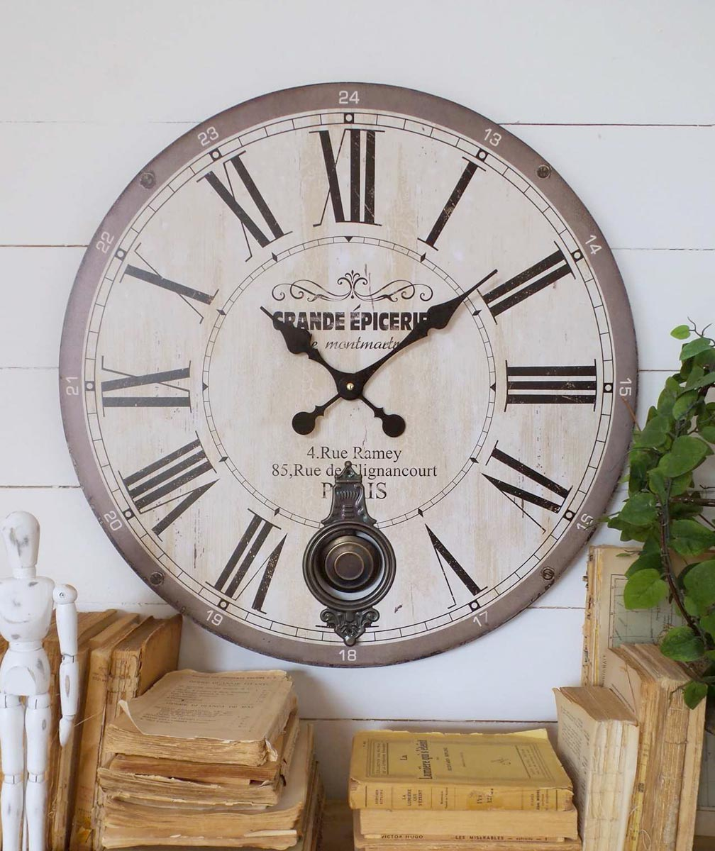 Orologio vintage da parete a pendolo mobilia store - Orologi componibili da parete ...