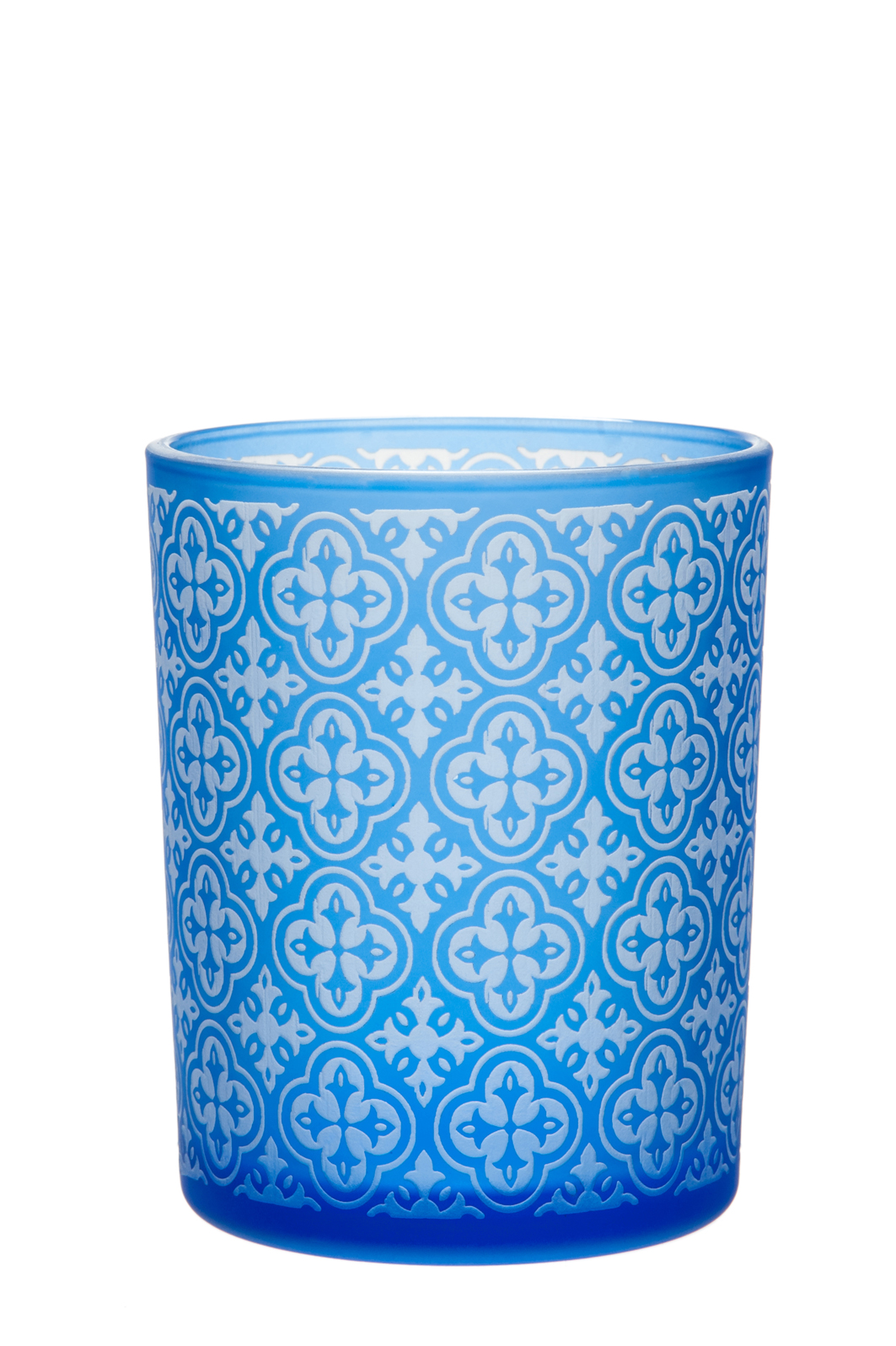 Portacandela vetro blu mobilia store for Mobilia store