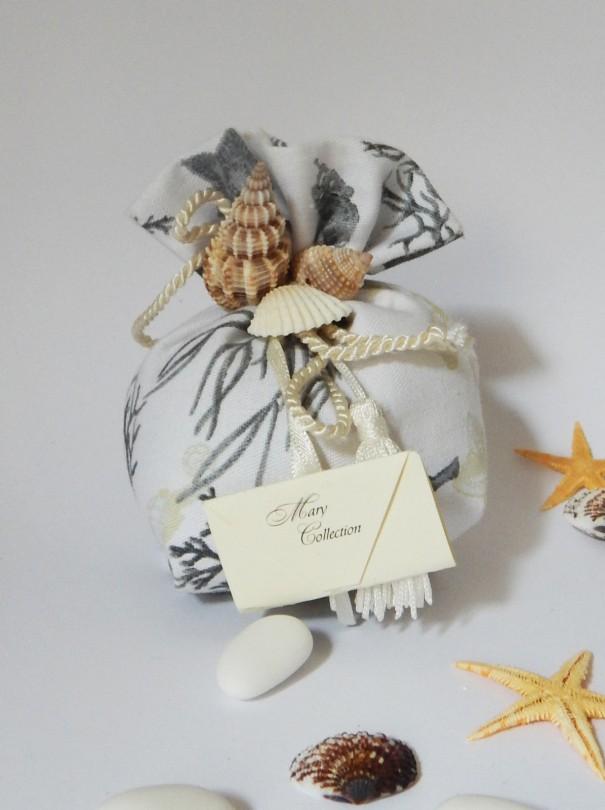 Matrimonio Tema Corallo : Sacchettini matrimonio tema mare corallo blu mobilia store